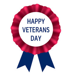 veterans day emblem logo realistic style vector image
