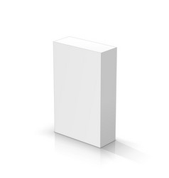 White rectangular parallelepiped vector