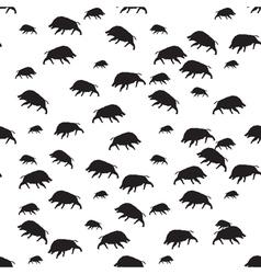 Wild boar seamless vector