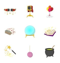 Witchery icons set cartoon style vector image