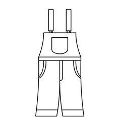 Work pants icon outline style vector