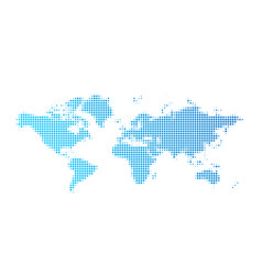 world map dot background abstract earth map vector image