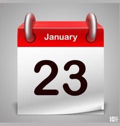 calendar icon white art vector image vector image