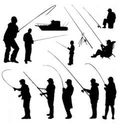 fisher set vector image vector image
