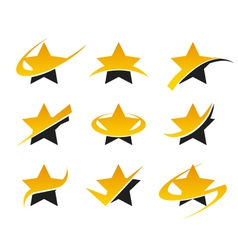 Gold Star Logo Icons vector image vector image