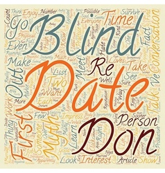 How to survive and enjoy a blind date text vector