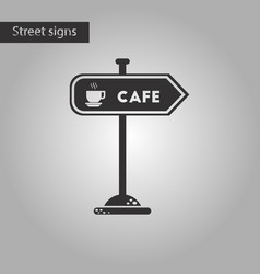 Black and white style icon cafe sign vector