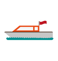 boat with flag icon image vector image vector image