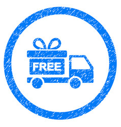 gift delivery rounded grainy icon vector image vector image