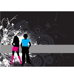 grunge youth vector image vector image