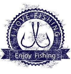 Love fishing vector image vector image