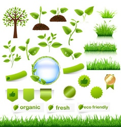 Nature objects vector image vector image