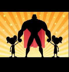 super dad 2 twin girls vector image vector image
