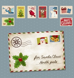 Xmas letter vector image