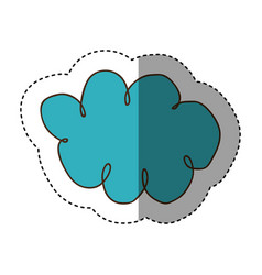 color clound network service icon vector image