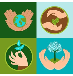 ecology signs vector image
