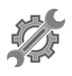 Hear and Wrench Service Icon vector image