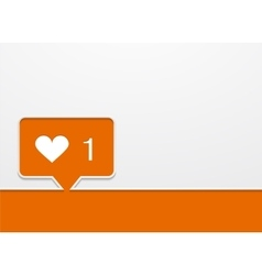 modern like orange icon vector image vector image