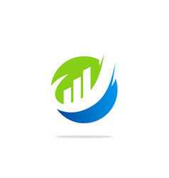round business finance chart logo vector image