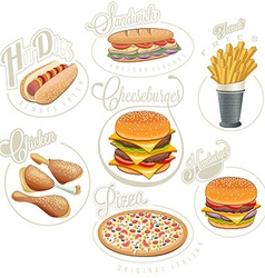 Set of food icons vector image vector image