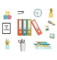 Set of office supplies vector image