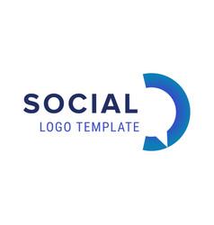 social logo chat logo design template vector image