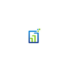 square data technology business logo vector image