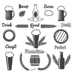 Vintage craft beer design elements vector image