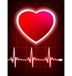 Abstract heart beats cardiogram vector image