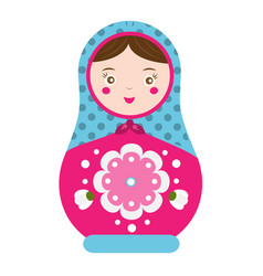 matryoshka traditional russian nesting doll vector image