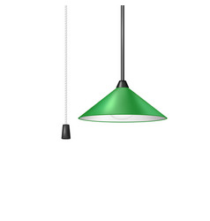 retro hanging lamp in green design vector image vector image