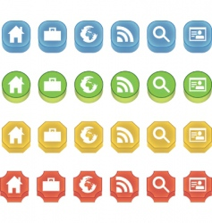 3d buttons vector image