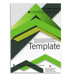 Abstract business template brochure layout cover vector