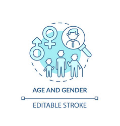 Age and gender concept icon vector