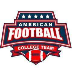 American football college team badge logo vector