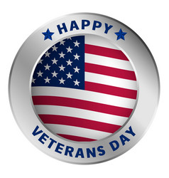 American veterans day logo realistic style vector