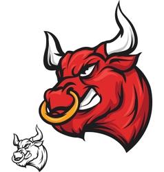 Angry bull head vector