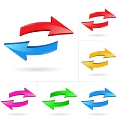 Arrow sketchy design elements vector