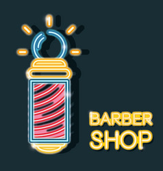 Baber shop neon icon decoration sign vector