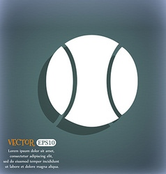 Baseball icon On the blue-green abstract vector