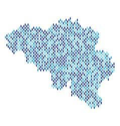 Belgium map population people vector
