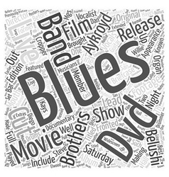 Blues brothers dvd Word Cloud Concept vector