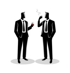 Businessmen casually talking with each other vector