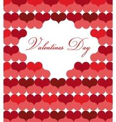card template for valentine day vector image