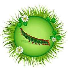 caterpillar in a clearing 2 vector image