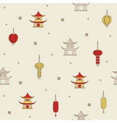 Chinese seamless background vector