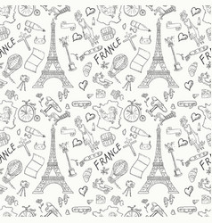Contour seamless pattern 2 travel to europe vector