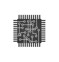 cpu central processing unit computer chip or vector image