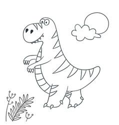 Cute dinosaur dino tyrannosaurus rex vector