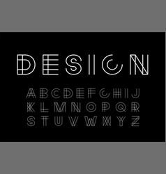 designer modern font - minimalistic vector image